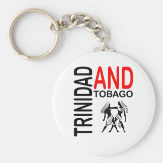 Trinidad and Tobago Native People Basic Round Button Keychain