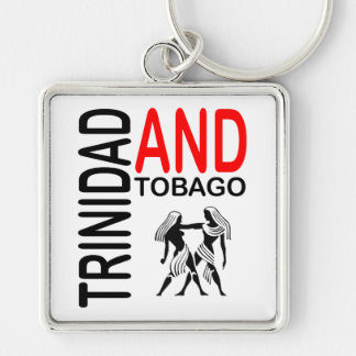 Trinidad and Tobago Native People Silver-Colored Square Keychain