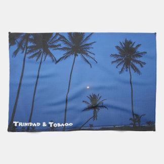 Trinidad And Tobago Nightfall At Cocal Manzanilla Kitchen Towel