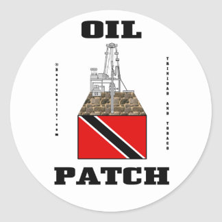 Trinidad And Tobago Oil Fields,Sticker,Oil,Gas Classic Round Sticker