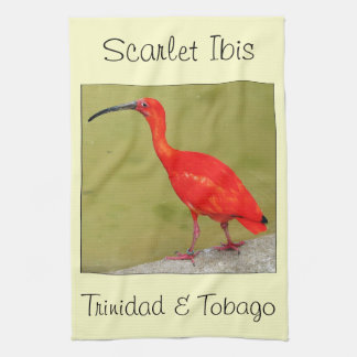 Trinidad and Tobago Red Scarlet Ibis Kitchen Towel