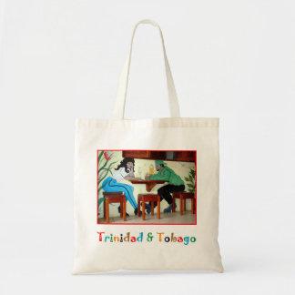 Trinidad and Tobago Rum Shop Scene Budget Tote Bag