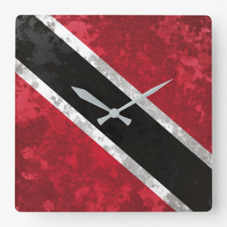 Trinidad and Tobago Square Wall Clock