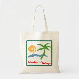Trinidad and Tobago Sun Sea And Coconut Tree Budget Tote Bag