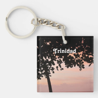 Trinidad and Tobago Sunset Square Acrylic Keychains