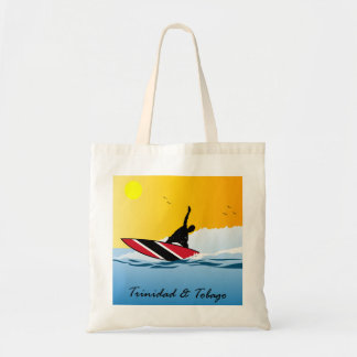 Trinidad and Tobago Surfer Man Budget Tote Bag