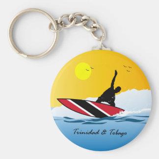 Trinidad and Tobago Toco Surfing Basic Round Button Keychain