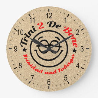 Trinidad and Tobago Trini To The Bone Large Clock