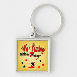Trinidad and Tobago We Liming Silver-Colored Square Keychain