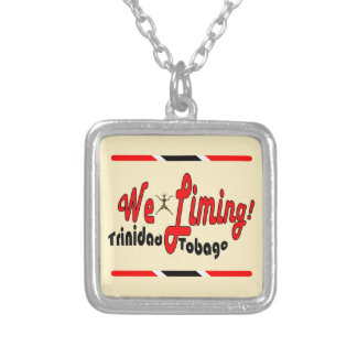 Trinidad and Tobago We Liming Square Pendant Necklace