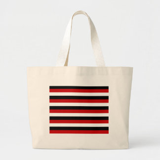 Trinidad and Tobago Yemen flag stripes Large Tote Bag