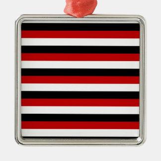 Trinidad and Tobago Yemen flag stripes Metal Ornament