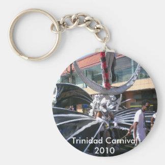Trinidad Carnival 2010 Basic Round Button Keychain