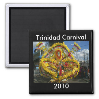Trinidad Carnival 2010 Square Magnet