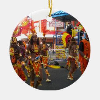 Trinidad Carnival Ceramic Ornament