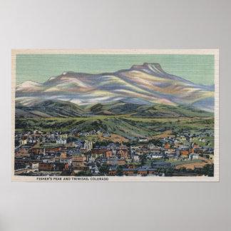 Trinidad, Colorado - Fisher's Peak and City Poster