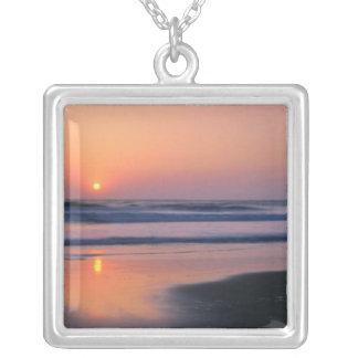 Trinidad State Beach, California. USA. Sea 2 Square Pendant Necklace