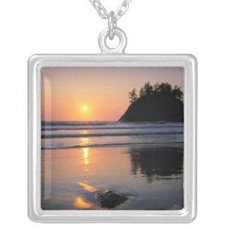 Trinidad State Beach, California. USA. Sea Square Pendant Necklace