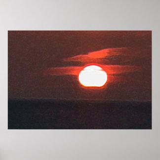 Trinidad Sunset Poster