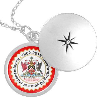 Trinidad & Tobago 50th Anniversary Round Locket Necklace