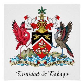 Trinidad Tobago Coat Of Arms Perfect Poster