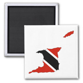 trinidad tobago country flag map square magnet