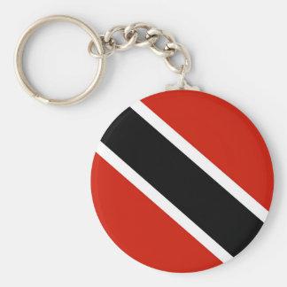 trinidad tobago country flag symbol basic round button keychain