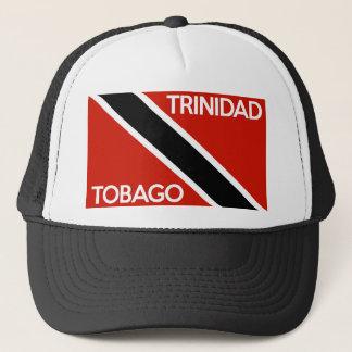 trinidad tobago country flag text name trucker hat