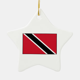Trinidad & Tobago Flag Ceramic Ornament