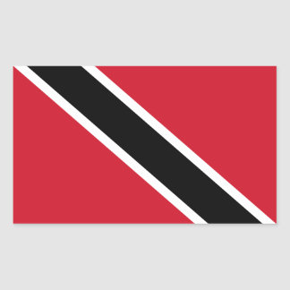 Trinidad Tobago Flag Rectangle Glossy Stickers