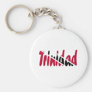 Trinidad & Tobago Basic Round Button Keychain