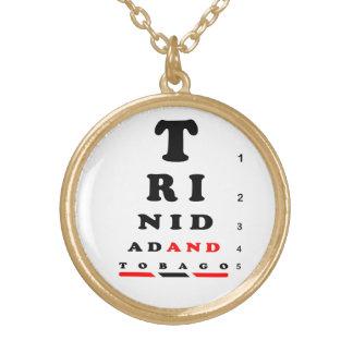 Trinidad & Tobago Round Pendant Necklace