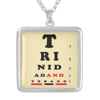 Trinidad & Tobago Square Pendant Necklace