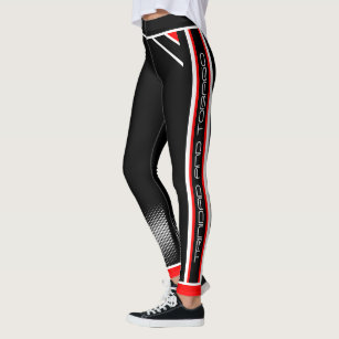Trinidad & Tobago on (Red White Black) Leggings