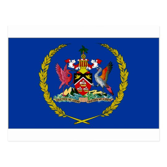 Trinidad Tobago President Flag Postcard