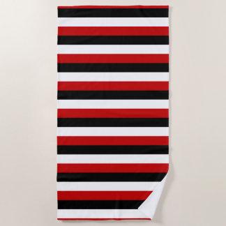 Trinidad Tobago Yemen flag stripes lines pattern Beach Towel
