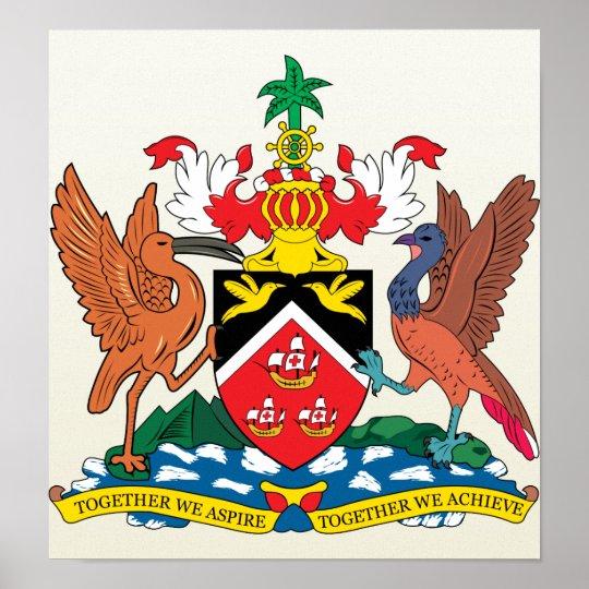 Trinidadandtobago Coat of Arms detail Poster