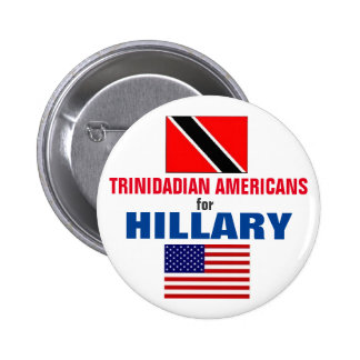 Trinidadian Americans for Hillary 2016 2 Inch Round Button