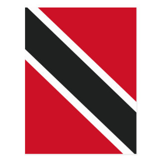 Trinidadtobago flag postcard