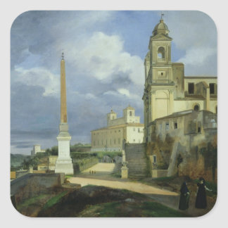 Trinita dei Monti and the Villa Medici Square Sticker