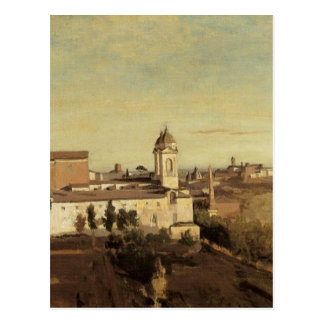 Trinita dei Monti from the Villa Medici by Camille Postcard