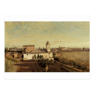 Trinita dei Monti from the Villa Medici by Camille Postcard