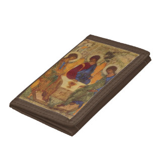 Trinity Angels At Mamre Trifold Wallets