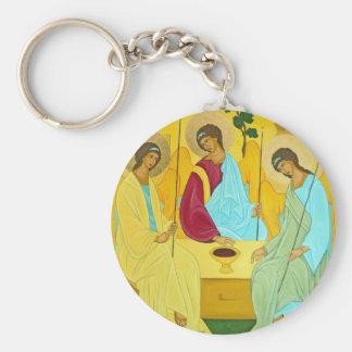 Trinity Basic Round Button Keychain