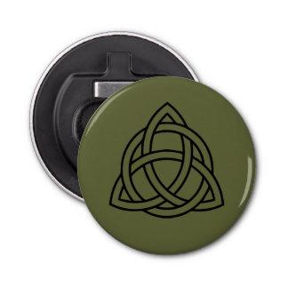 Trinity Celtic Knot Bottle Opener Fridge Magnet Button Bottle Opener