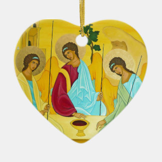 Trinity Ceramic Heart Ornament