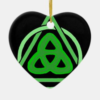 Trinity Ceramic Heart Ornament