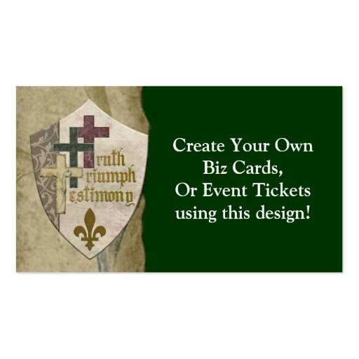 Trinity christian shield create your own cards business for Customize your own business cards