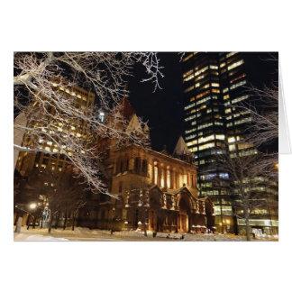 Trinity Church by Night Card