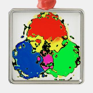 trinity cosmos Silver-Colored square ornament